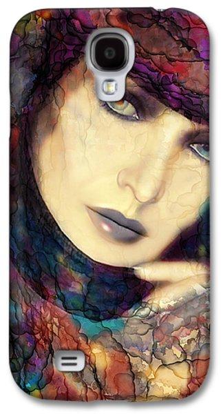 Portraits Digital Art Galaxy S4 Cases - Raining Rainbows Galaxy S4 Case by Shanina Conway