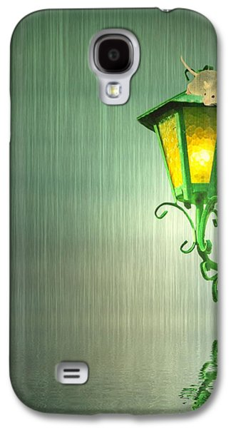 Lamp Post Mixed Media Galaxy S4 Cases - Raining Galaxy S4 Case by Sharon Lisa Clarke