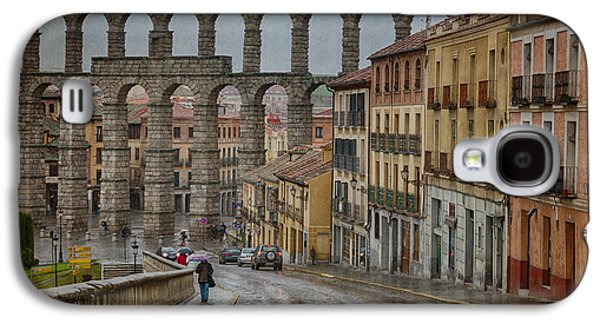 Ancient Galaxy S4 Cases - Rainy Afternoon in Segovia Galaxy S4 Case by Joan Carroll