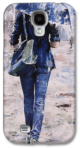 Rain Paintings Galaxy S4 Cases - Rainy day #22 Galaxy S4 Case by Emerico Imre Toth