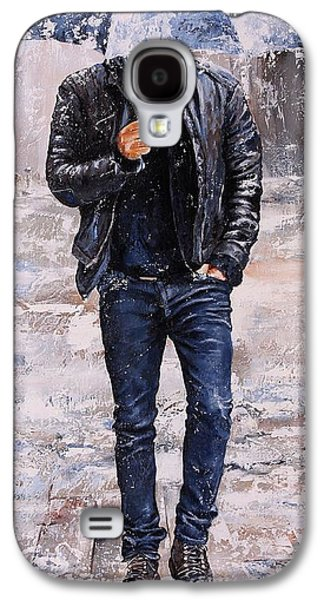 People Mixed Media Galaxy S4 Cases - Rainy Day #23 Galaxy S4 Case by Emerico Imre Toth