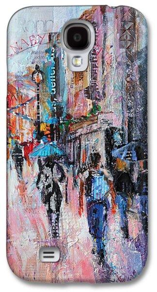 Rainy Day Galaxy S4 Cases - Rainy Day  Carnaby Street Galaxy S4 Case by Sylvia Paul