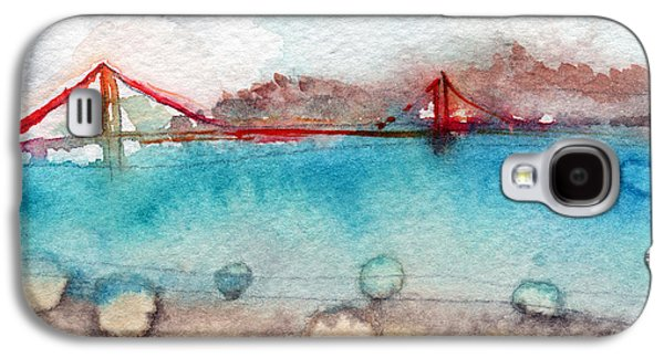 Architecture Mixed Media Galaxy S4 Cases - Rainy Day In San Francisco  Galaxy S4 Case by Linda Woods