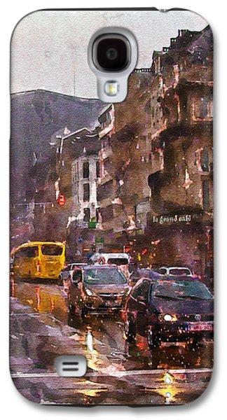 Rainy Day Galaxy S4 Cases - Rainy Day Traffic Galaxy S4 Case by Marian Voicu