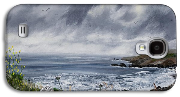 Grey Clouds Galaxy S4 Cases - Rainy Springtime in Pacifica Galaxy S4 Case by Laura Iverson