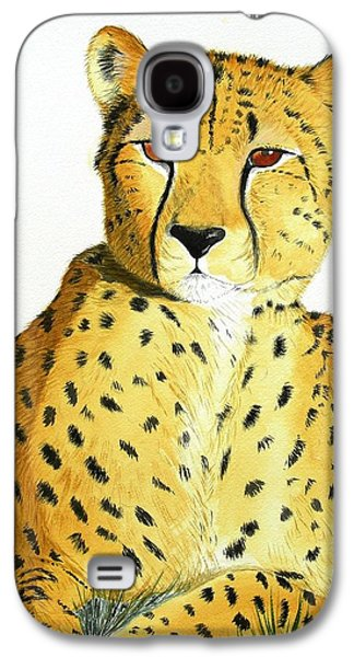 Cheetah Drawings Galaxy S4 Cases - Rajah Galaxy S4 Case by Joette Snyder