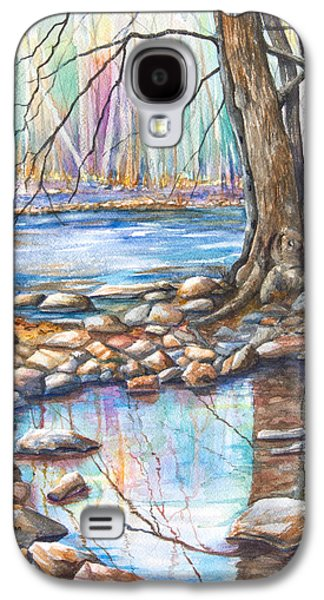 Trees Reflecting In Water Galaxy S4 Cases - Ralph Stover Park in the Spring Galaxy S4 Case by Patricia Allingham Carlson