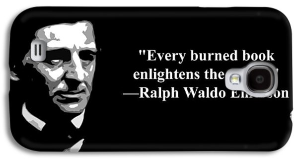 Censorship Galaxy S4 Cases - Ralph Waldo Emerson on censorship  Galaxy S4 Case by Artist  Singh