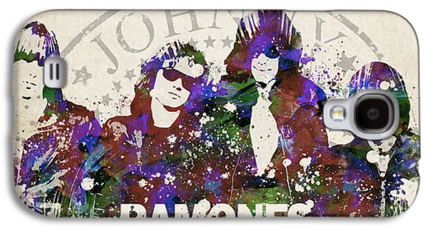 Famous Band Galaxy S4 Cases - Ramones Portrait Galaxy S4 Case by Aged Pixel