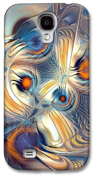 Abstract Digital Mixed Media Galaxy S4 Cases - Random Thoughts Galaxy S4 Case by Anastasiya Malakhova