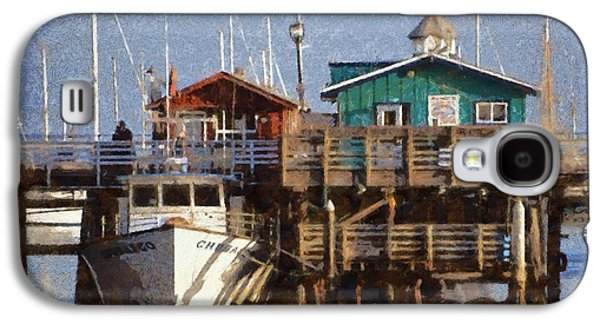 Whale Digital Art Galaxy S4 Cases - Randys Whale Watching And Fishing Trips Watercolor Galaxy S4 Case by Barbara Snyder