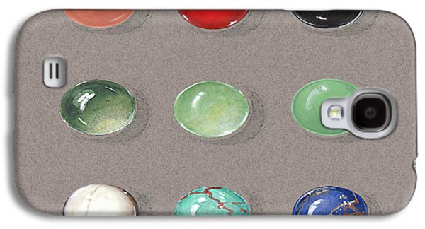 Zen Jewelry Galaxy S4 Cases - Range Of Ornamental Stones Galaxy S4 Case by Marie Esther NC