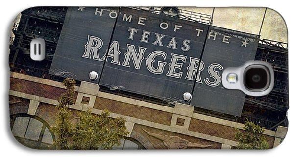 Sports Photographs Galaxy S4 Cases - Rangers Ballpark in Arlington Color Galaxy S4 Case by Joan Carroll