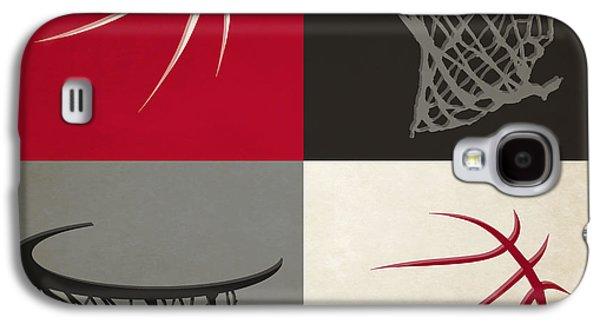 Raptors Galaxy S4 Cases - Raptors Ball And Hoop Galaxy S4 Case by Joe Hamilton