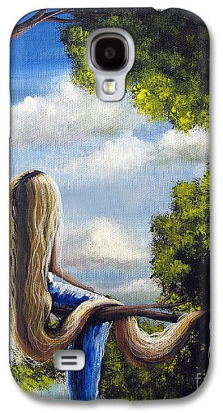 Paiting Galaxy S4 Cases - Rapunzel Original Artwork from my Acrylic Painting Galaxy S4 Case by Shawna Erback