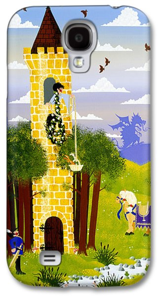 Knights Castle Paintings Galaxy S4 Cases - Rapunzel Rapunzel Let Down Your Hare Galaxy S4 Case by Merry  Kohn Buvia