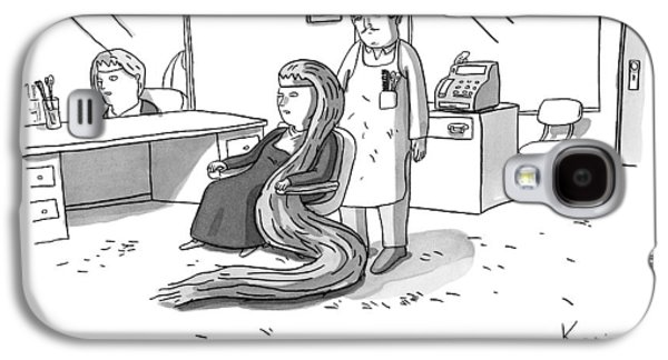 Rapunzel Sits In A Barber's Chair Galaxy S4 Case by Zachary Kanin