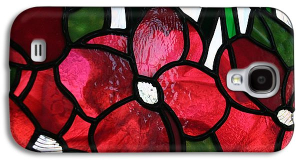 Green Glass Galaxy S4 Cases - Raspberry Flowers Galaxy S4 Case by Marsha Painter