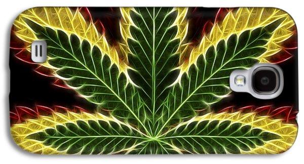 Joints Galaxy S4 Cases - Rasta Marijuana Galaxy S4 Case by Adam Romanowicz