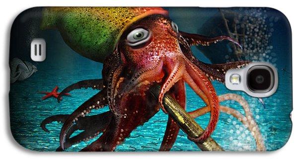 Alga Galaxy S4 Cases - Rasta Squid Galaxy S4 Case by Alessandro Della Pietra