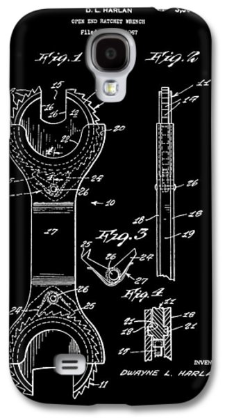 Mechanics Mixed Media Galaxy S4 Cases - Ratchet Wrench Patent Galaxy S4 Case by Dan Sproul