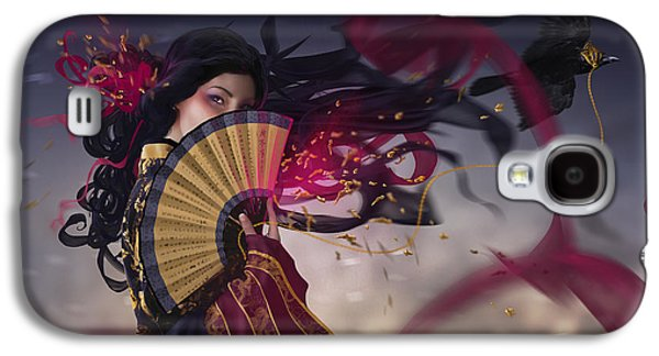 Phantasie Digital Art Galaxy S4 Cases - Raven Galaxy S4 Case by Cassiopeia Art