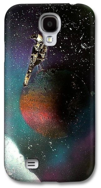 Constellations Paintings Galaxy S4 Cases - Raven Galaxy S4 Case by Destynnie Hall