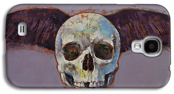 Raven Skull Galaxy S4 Case by Michael Creese