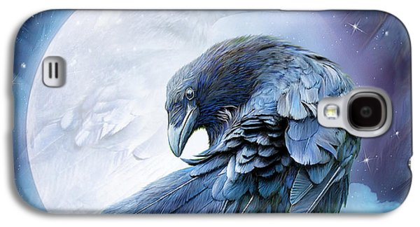 Raven Moon Galaxy S4 Case by Carol Cavalaris