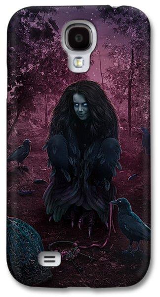 Phantasie Galaxy S4 Cases - Raven Spirit Galaxy S4 Case by Cassiopeia Art