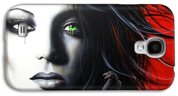 Contemporary Art Photographs Galaxy S4 Cases - Raven Vixon Galaxy S4 Case by Christian Chapman Art