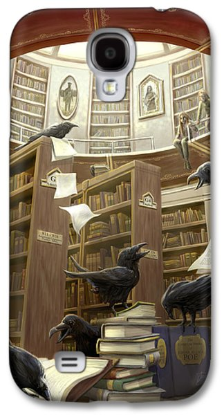 Popular Galaxy S4 Cases - Ravens in the Library Galaxy S4 Case by Rob Carlos