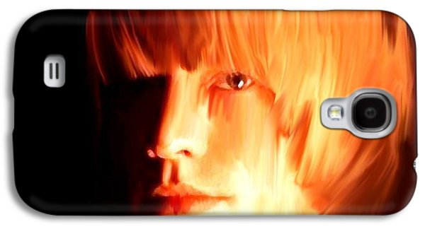 Keith Richards Paintings Galaxy S4 Cases - Raw Stone Brian Jones Galaxy S4 Case by Iconic Images Art Gallery David Pucciarelli