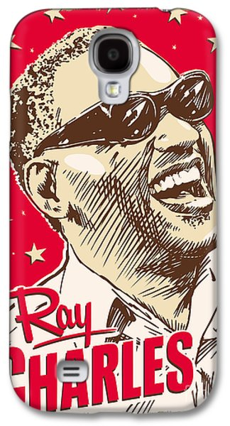 African-american Digital Galaxy S4 Cases - Ray Charles Pop Art Galaxy S4 Case by Jim Zahniser