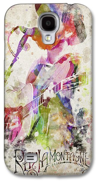 Vocal Galaxy S4 Cases - Ray Lamontagne Portrait Galaxy S4 Case by Aged Pixel
