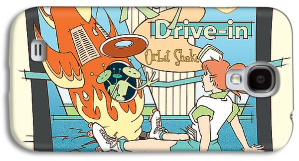 Hop Drawings Galaxy S4 Cases - Rays Drive-in - redhead Galaxy S4 Case by Larry Hunter