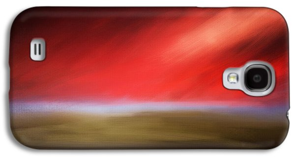 Sunset Abstract Galaxy S4 Cases - Rays Of Grandeur Galaxy S4 Case by Lourry Legarde