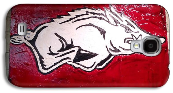 Razorback Painting Art Galaxy S4 Case by Dawn Bearden