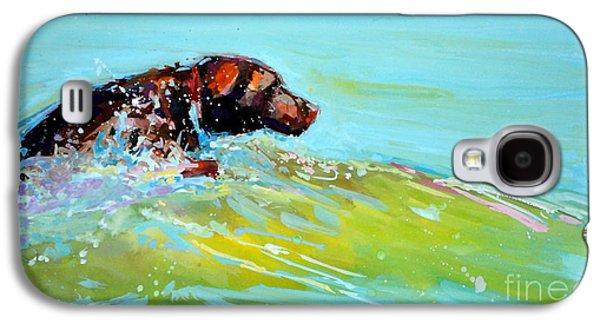 Chocolate Labrador Retriever Galaxy S4 Cases - Reach Galaxy S4 Case by Molly Poole