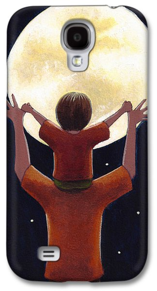 Decor Drawings Galaxy S4 Cases - Reach the Moon Galaxy S4 Case by Christy Beckwith