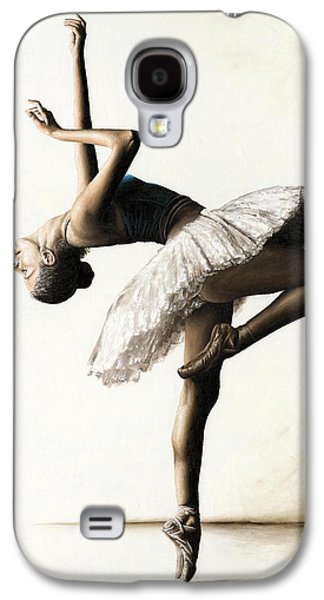 work Paintings Galaxy S4 Cases - Reaching for Perfect Grace Galaxy S4 Case by Richard Young
