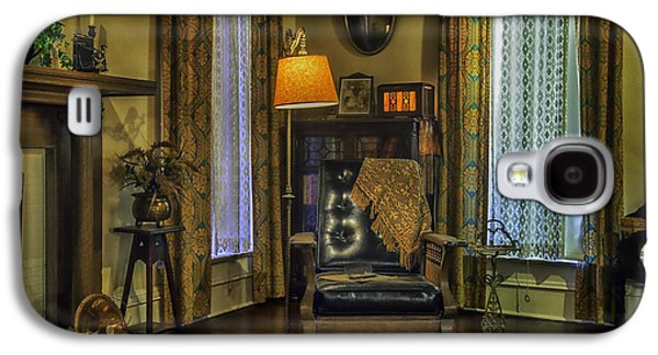 Candle Stand Galaxy S4 Cases - Reading Nook with Leather Chair Galaxy S4 Case by Lynn Palmer
