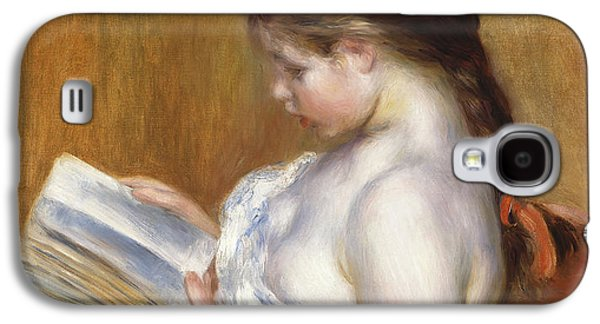 Youthful Galaxy S4 Cases - Reading Galaxy S4 Case by Pierre Auguste Renoir