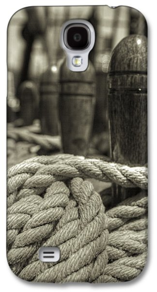 Ready For Work Black And White Sepia Galaxy S4 Case by Scott Campbell