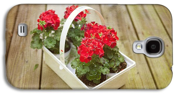 Red Geraniums Galaxy S4 Cases - Ready to Plant Galaxy S4 Case by Kay Pickens