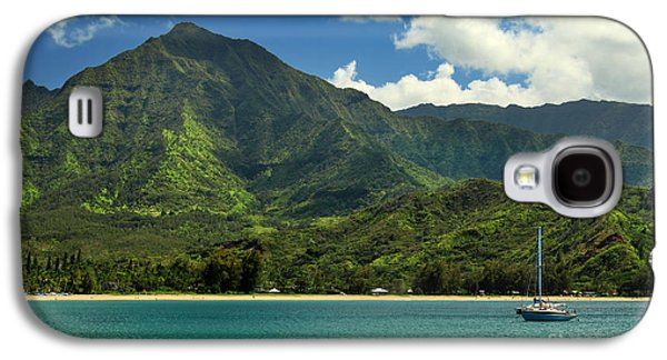 Sailboat Ocean Galaxy S4 Cases - Ready To Sail In Hanalei Bay Galaxy S4 Case by James Eddy