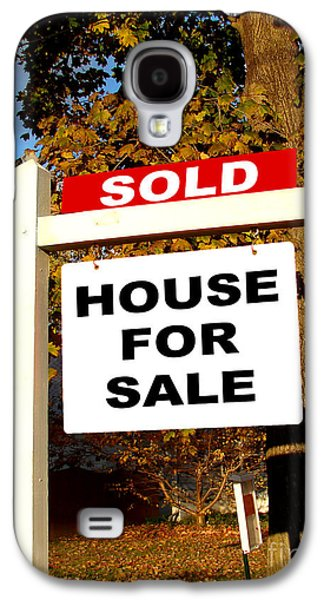 Real Estate Sold And House For Sale Sign On Post Galaxy S4 Case by Olivier Le Queinec