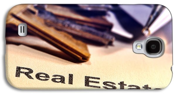 Business Galaxy S4 Cases - Real Estate Title Word on a Realtor Contract Page Galaxy S4 Case by Olivier Le Queinec