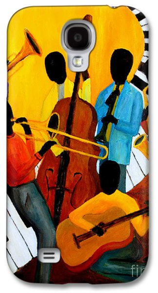 Nashville Paintings Galaxy S4 Cases - Real Jazz Octet Galaxy S4 Case by Larry Martin