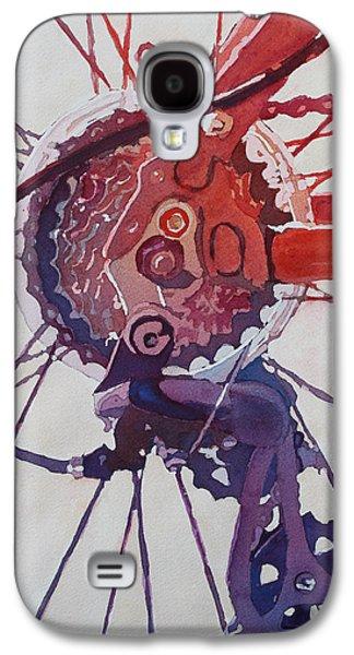 Gear Paintings Galaxy S4 Cases - Rear Derailleur Galaxy S4 Case by Jenny Armitage